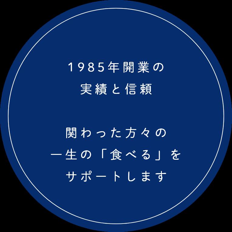 1985年開業の実績と信頼
